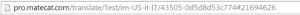 MateCat job URL