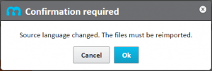 Warning message: the files must be reimported