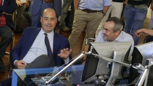 Governor Nicola Zingaretti with Translated CEO Marco Trombetti
