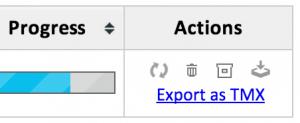 Export as TMX