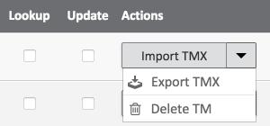 Export TM Matecat